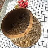 Cute Brim Cat Ears Straw Sun Beach Hat Fedora Cap