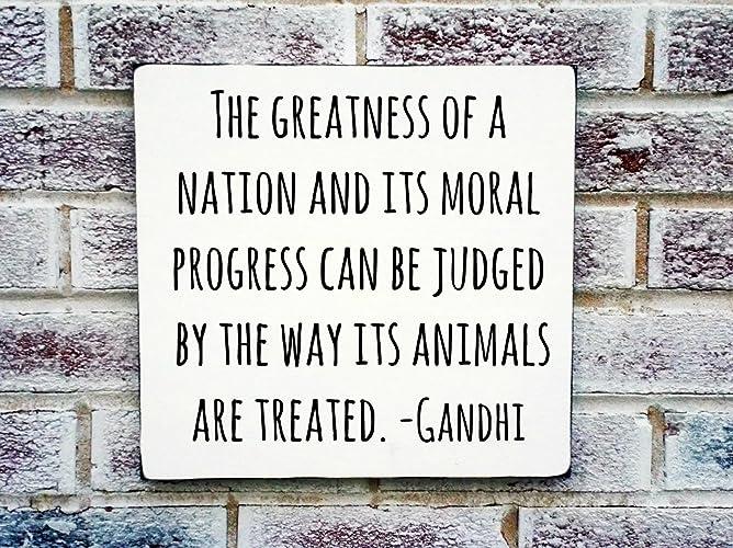 Amazon.com: Animal lovers, Gandhi quote, dog lover, dog ...