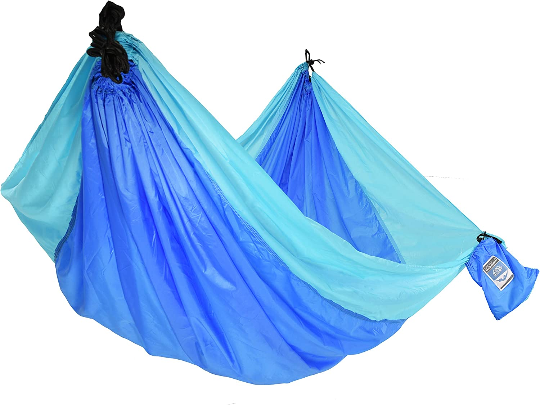 Equip 2p Travel Hammock Blue and Light Blue