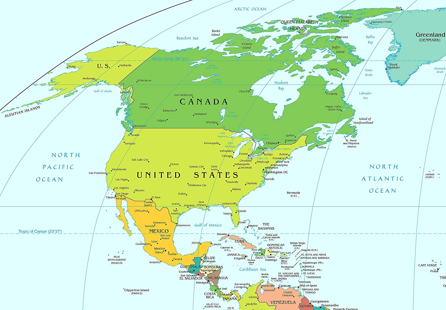 Map Of America 52 States.Amazon Com Home Comforts Laminated Map American Continent United