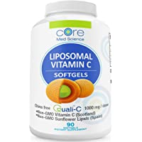 Liposomal Vitamin C SOFTGELS 1000mg/dose -30 Servings - 90 softgels - Quali®-C Vitamin C from Scotland - Made in The USA…