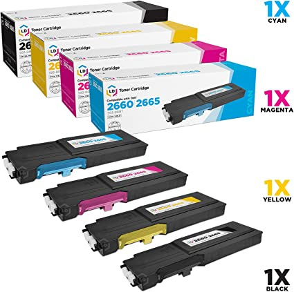 4 x Toner Chips For Dell C2660dn C2665dnf 593-BBBU 593-BBBT 593-BBBS 593-BBBR