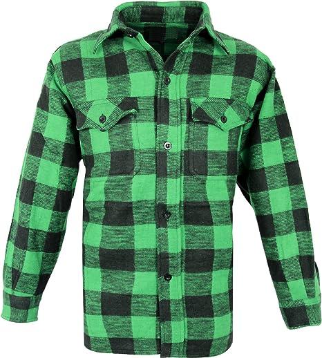 Outdoor Leñador Camisa Woodcutter Verde-Negro S: Amazon.es: Deportes y aire libre