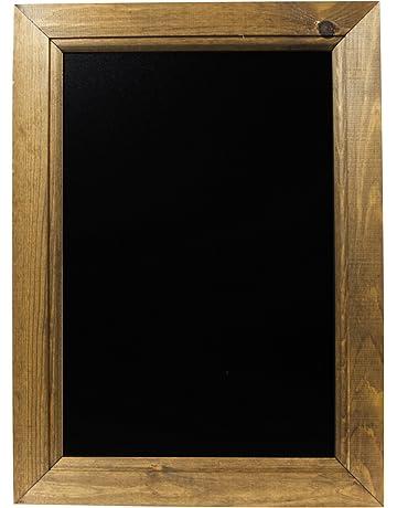 Captivant Tableaux Noirs Britannique Chêne Foncé Encadrée Tableau Noir, Bois, Noir