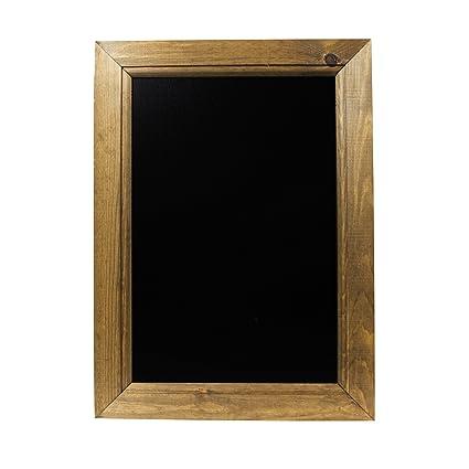 Chalkboards UK Pizarra enmarcadas Roble Oscuro, Color, Madera, Negro, A3 (45 x 32.7 x 1.5cm)