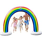 Splashin'kids Outdoor Rainbow Sprinkler Super Toddler Water Toys for Children Infants Boys Girls and Kids Perfect Outside Inf
