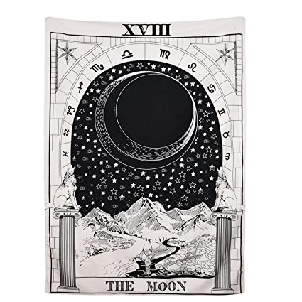 7e5e52df81 BLEUM CADE Tarot Tapestry The Moon The Star The Sun Tapestry Medieval  Europe Divination Tapestry Wall