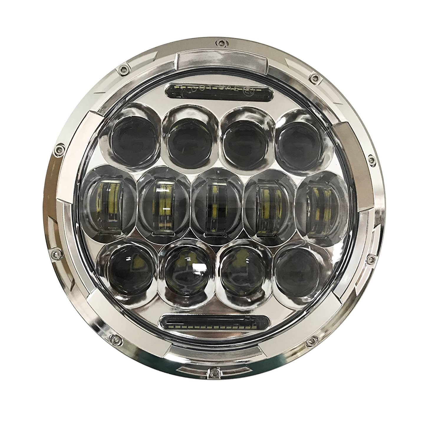 7inch LED round Headlight 75W Hi//Lo Beam Headlamp with White DRL and 4.5inch LED Fog Lights 4-1//2 Passing Lights Spot Lights for Harley Davidson