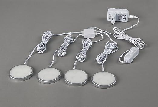 Ordentlich 4er Set LED Unterbauleuchten Möbelanbauleuchte, extra flach, LED  DY24