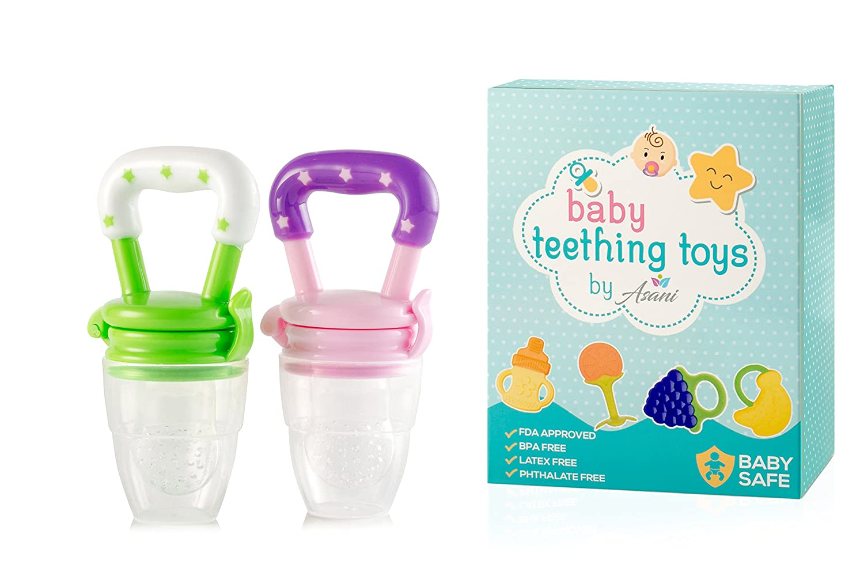 Amazon.com: 3-in-1 bebé chupete mordedor con Fruit Feeder ...