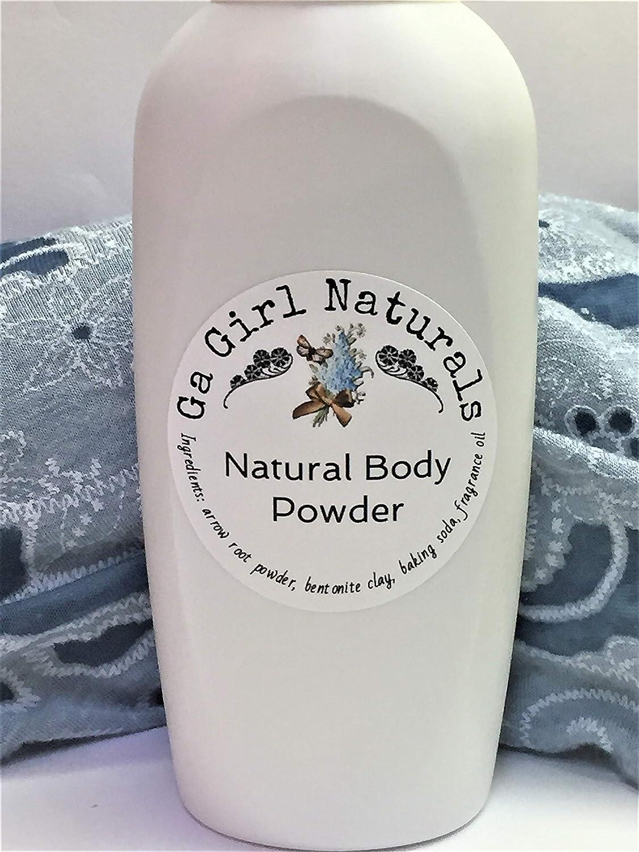 Polo Black Type Natural Deodorizing Body Powder, Dusting Powder, Perfume Body Powder, Talc Free GA Girl Naturals
