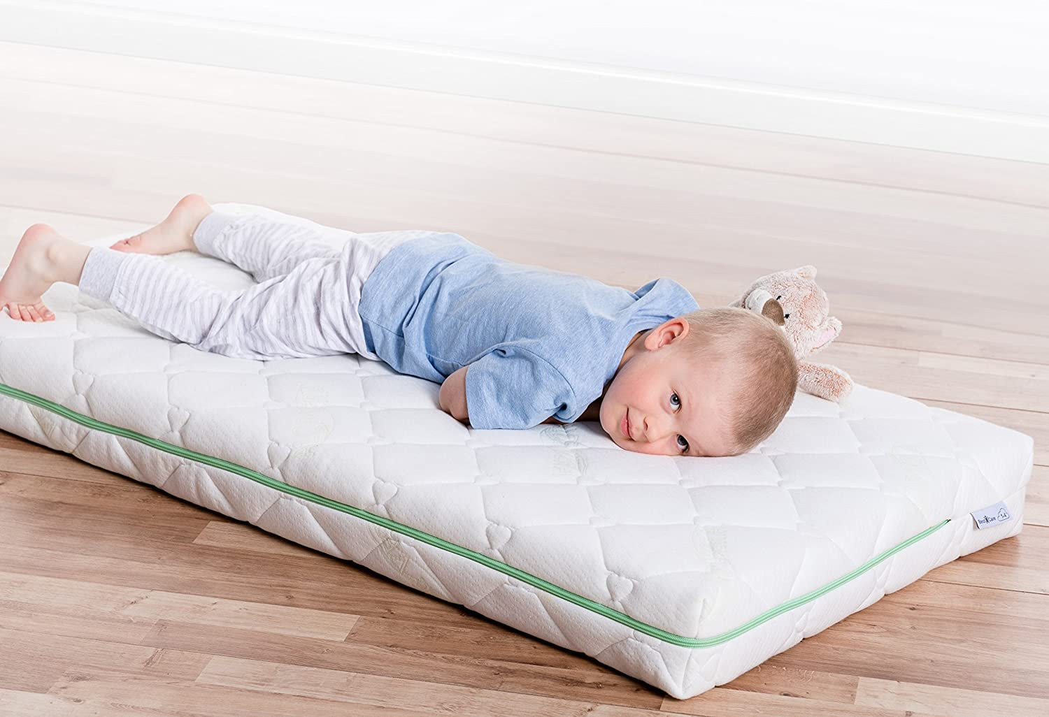 BestCare/® Height 12 cm Two Sided Made in The EU The Newest Premium Natural Mattress Size:Premium 140x70cm Organic Baby Cot Mattress No Chemical Smell No Wool or Latex Baby//Toddler Firmness