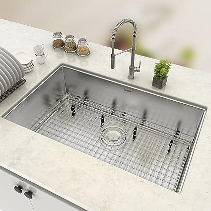 Steel Kitchen Sink Homdox 16 gauge 28 undermount stainless steel kitchen sink single homdox 16 gauge 28quot undermount stainless steel kitchen sink single bowl 28quotl workwithnaturefo
