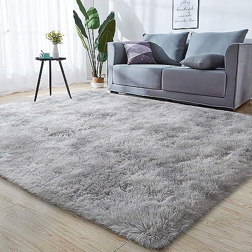 Leesentec Area Rug Super Soft Indoor Modern Shag Area Silky Smooth Fur Rugs Fluffy Anti-Skid Rugs Shaggy Bedroom Carpet Floor 3.9'x6.6' 120x200cm