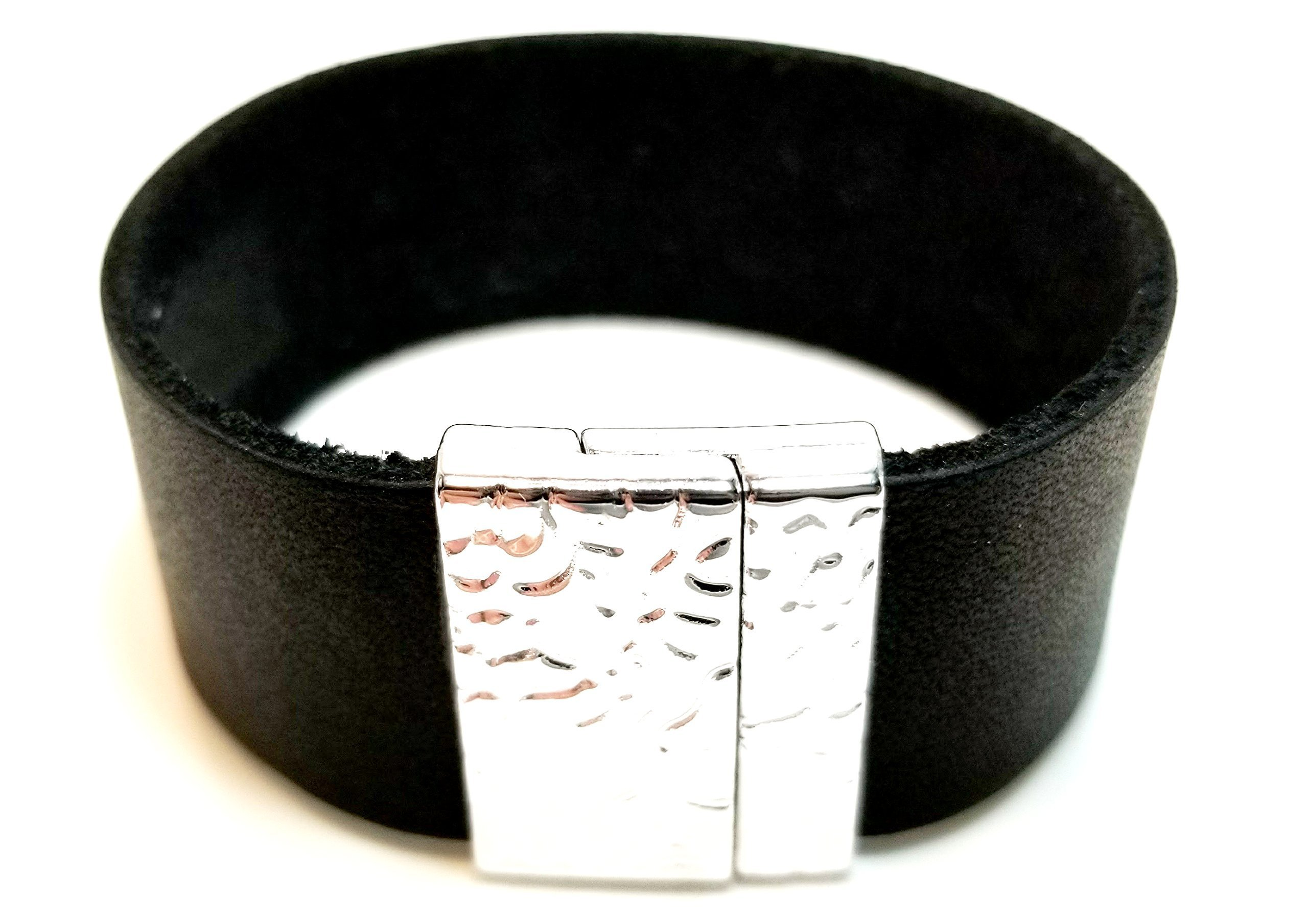 Christian Berkey Handmade Men's Bracelet - Leather Bracelet - Black by Christian Berkey Signature Accessories