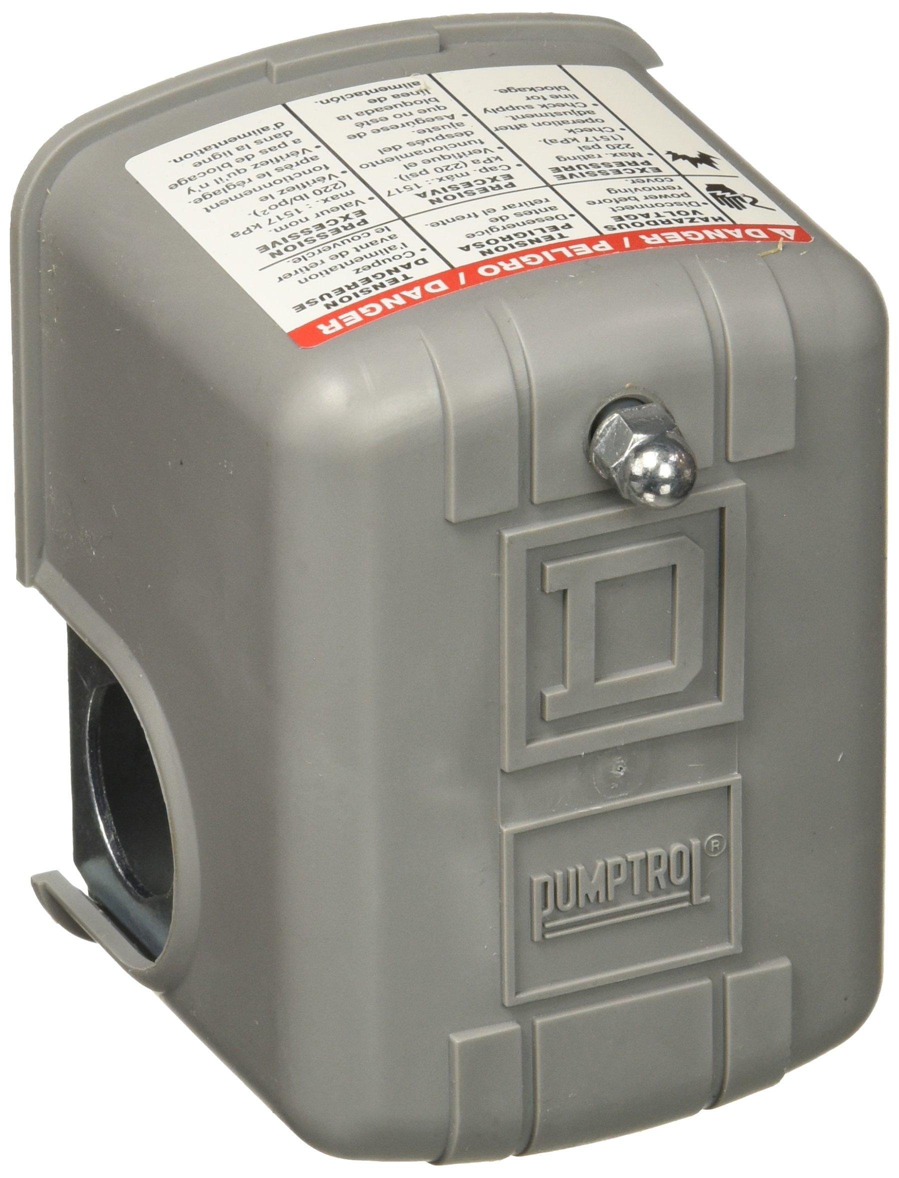 Square D 9013 FSG2 30/50 switch Schneider Electric 30-50 PSI Pumptrol Water Pressure Switch
