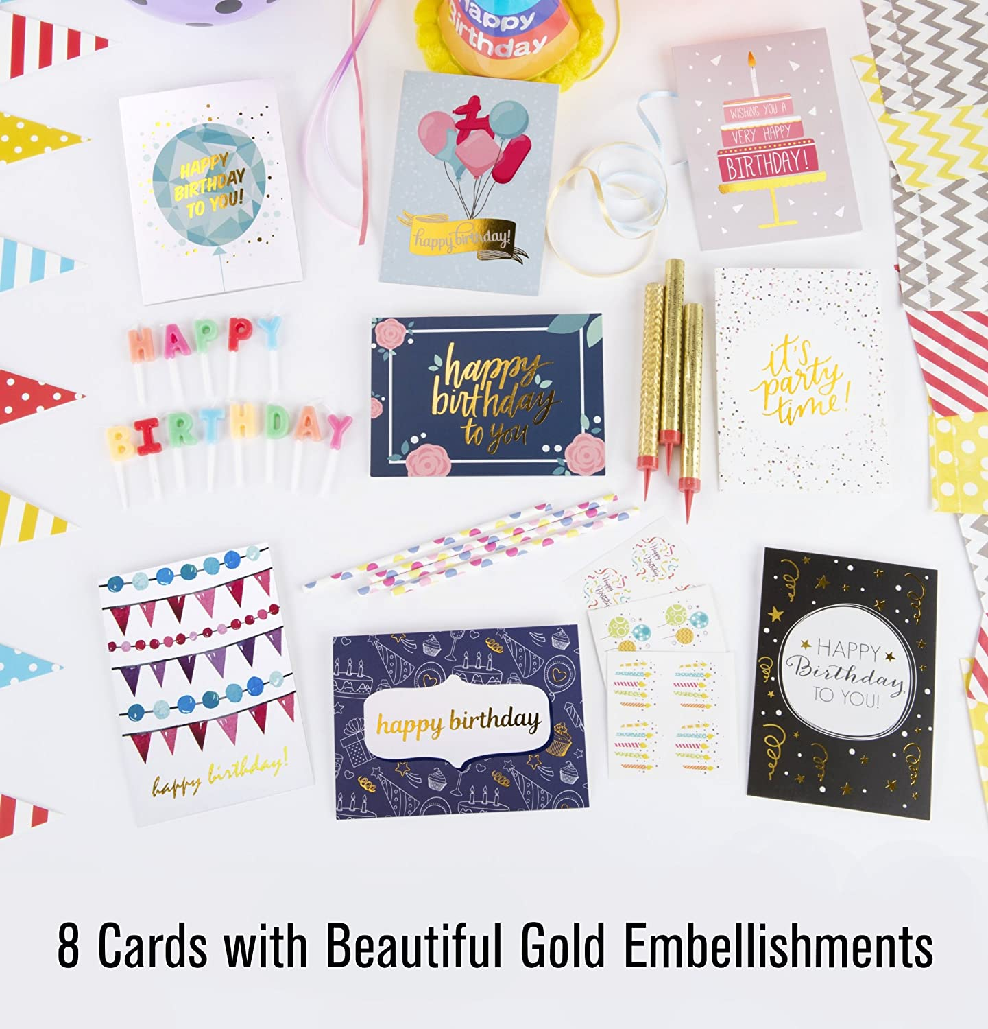 Amazon Happy Birthday Cards Bulk Premium Assortment 40