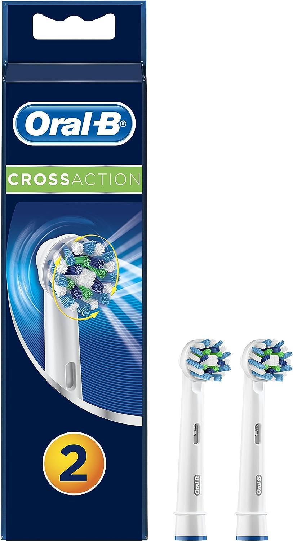 Oral-B Cross Action - Cabezales para cepillo de dientes, pack de 2 ...