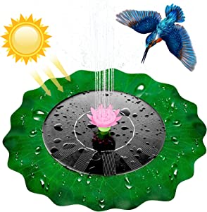 Solar Water Pond Fountain - Lotus Leaf Solar Fountain Pump, Floating Solar Powered, Floating Fountain Pump Kit for Bird Bath, Bird Bath, Aquarium, Pond Garden Decor, Fish Tank