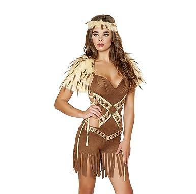 8a680c4a46 Amazon.com  Roma Costume Women s 2 piece Native American Warrior ...