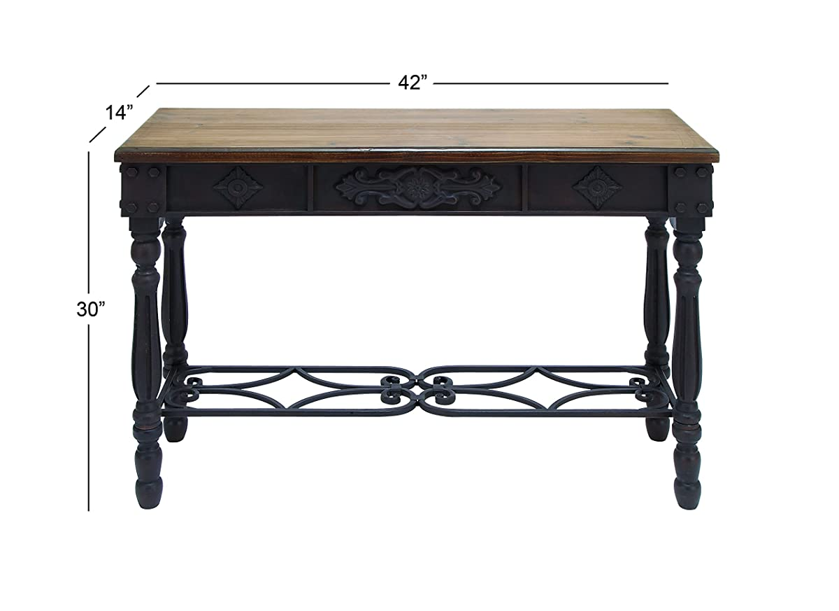 """Deco 79 52788 Wood And Metal Console Table, 42"""" x 30"""""""