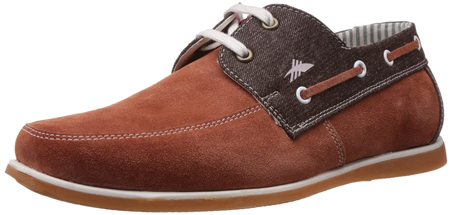 Rust Brown Leather Boat Shoes