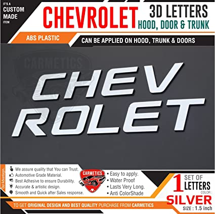 Carmetics Chevrolet 3d Letters For Chevrolet Enjoy Silver