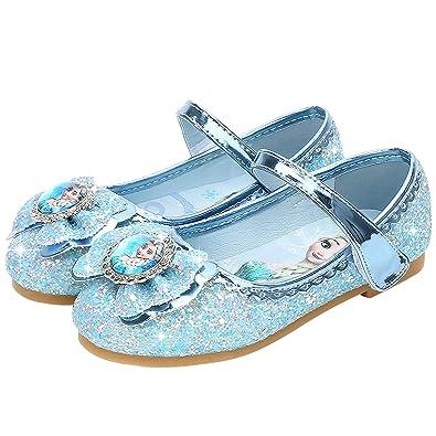 FStory Winyee Mädchen Prinzessin Schuhe Kinder ELSA Sandalen Partei Glitzer  Kristall Schuhe Mädchen Kostüm Zubehör Karneval Verkleidung c889b8bbf4