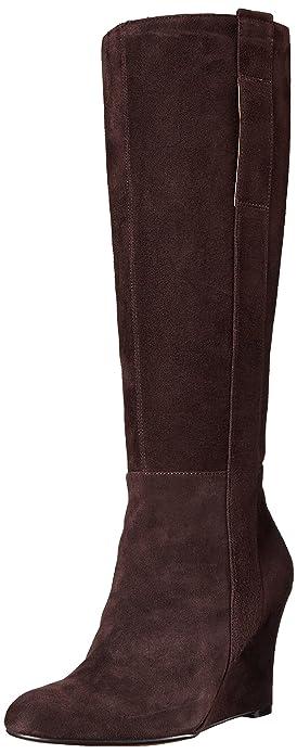 1dcede37e1beb Nine West Women's Oran Suede Knee High Boot, Dark Brown, 10 M US ...
