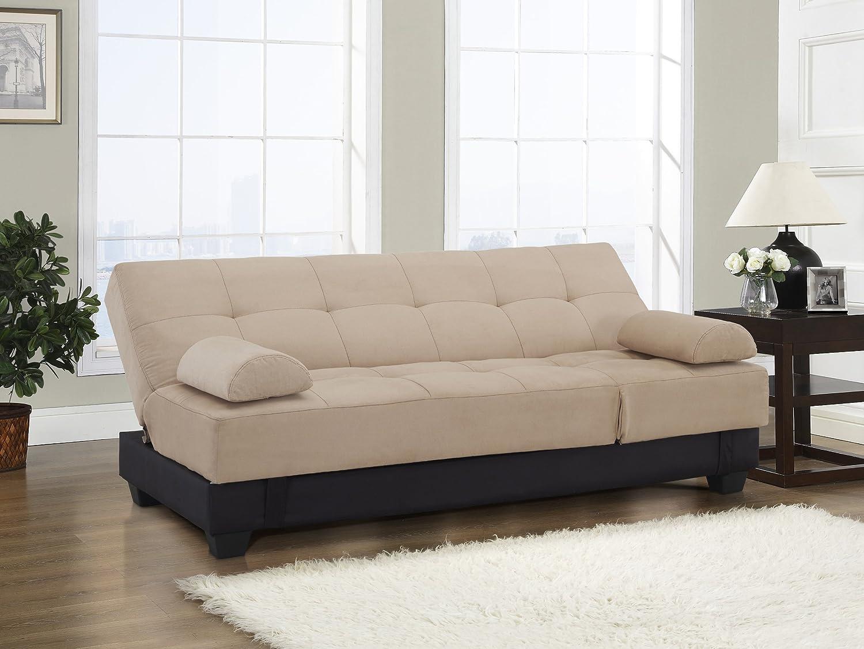 Amazon.com: Westport Home Westin Contemporary Sofa Bed, Khaki ...