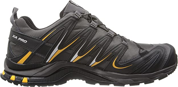 Zapatillas de trail running XA Pro 3D CS WP para hombre, Autobahn / Black / Yellow Gold, 8 M US: Amazon.es: Zapatos y complementos