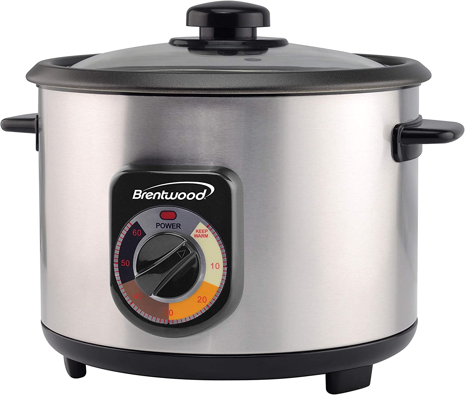 Brentwood TS-1020S 10-Cup Uncooked/20-Cup Cooked Crunchy Persian Rice Cooker, Stainless Steel