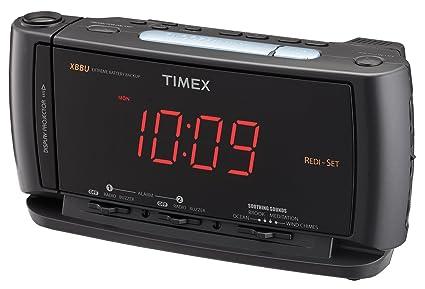 amazon com timex t740 redi set dual alarm clock radio with time rh amazon com timex redi set alarm clock manual t236 Timex Clock Radio Owner's Manual