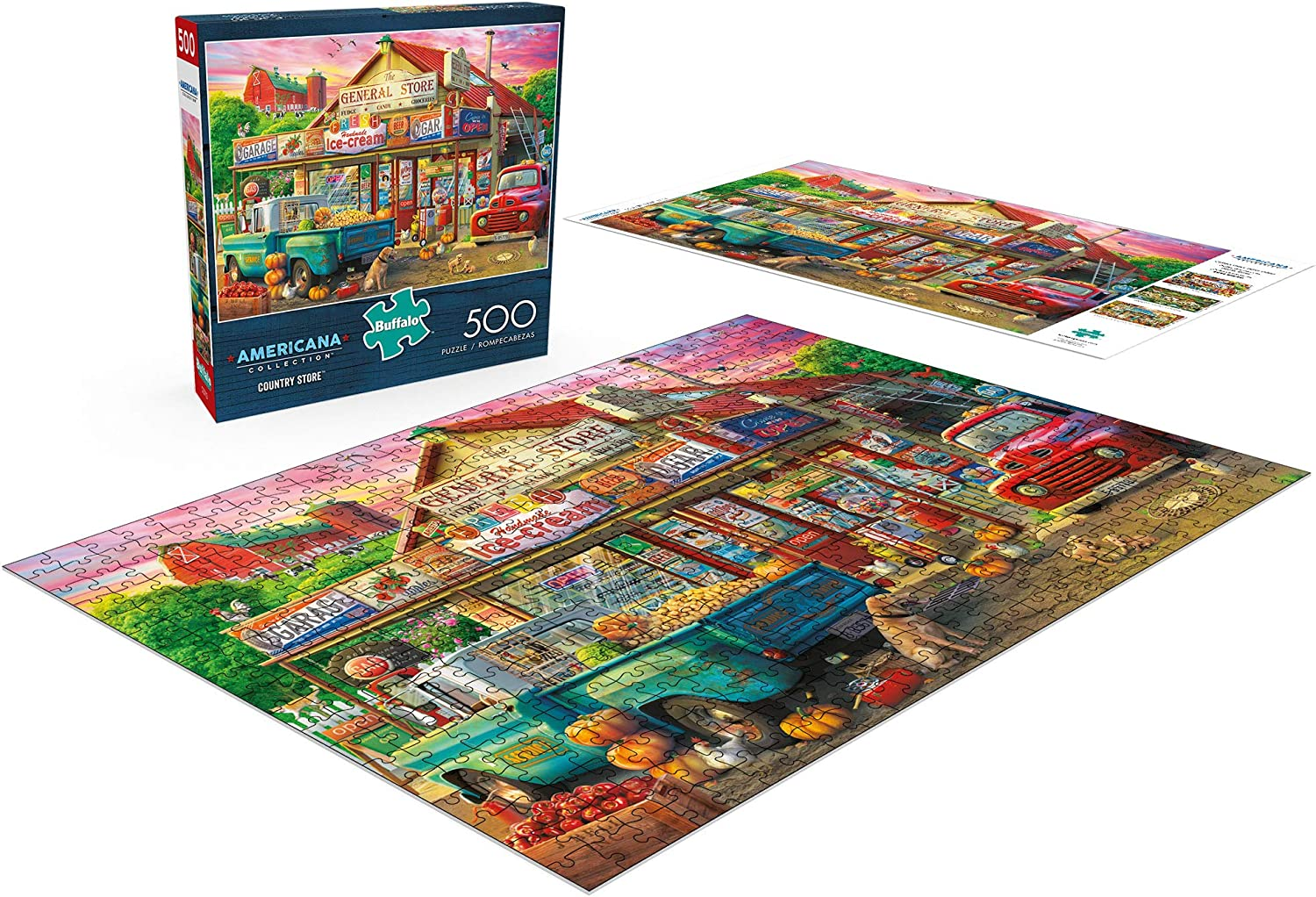 Country Store 500 Piece Jigsaw Puzzle 3721 Americana Collection Buffalo Games