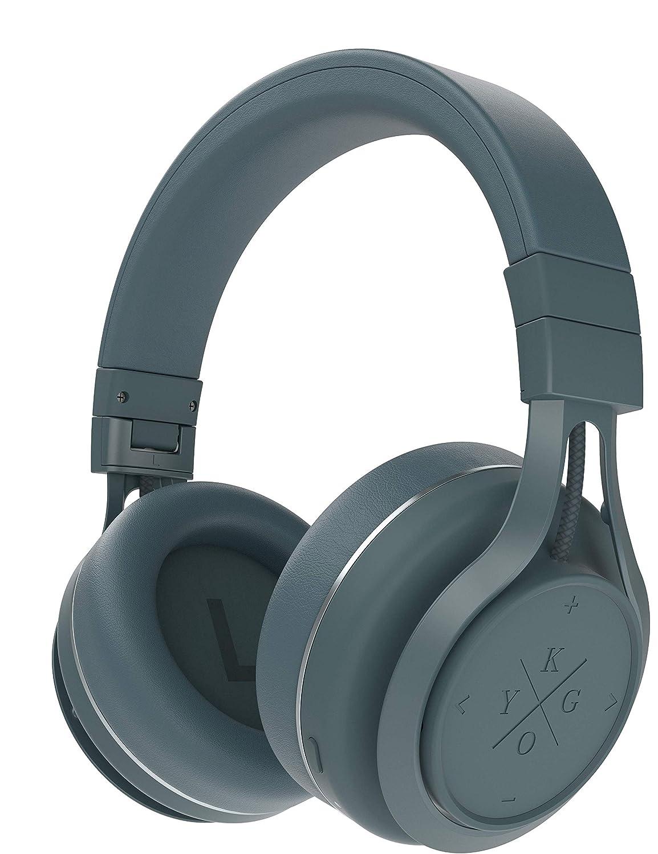 Kygo Life A9/600 | Over-Ear Bluetooth Headphones, aptX and AAC Codecs, Built-in Microphone, NFC Pairing, Memory Foam Ear Cushions, 23 Hours Playback, Kygo Sound App, Pro Line (Storm Gray)