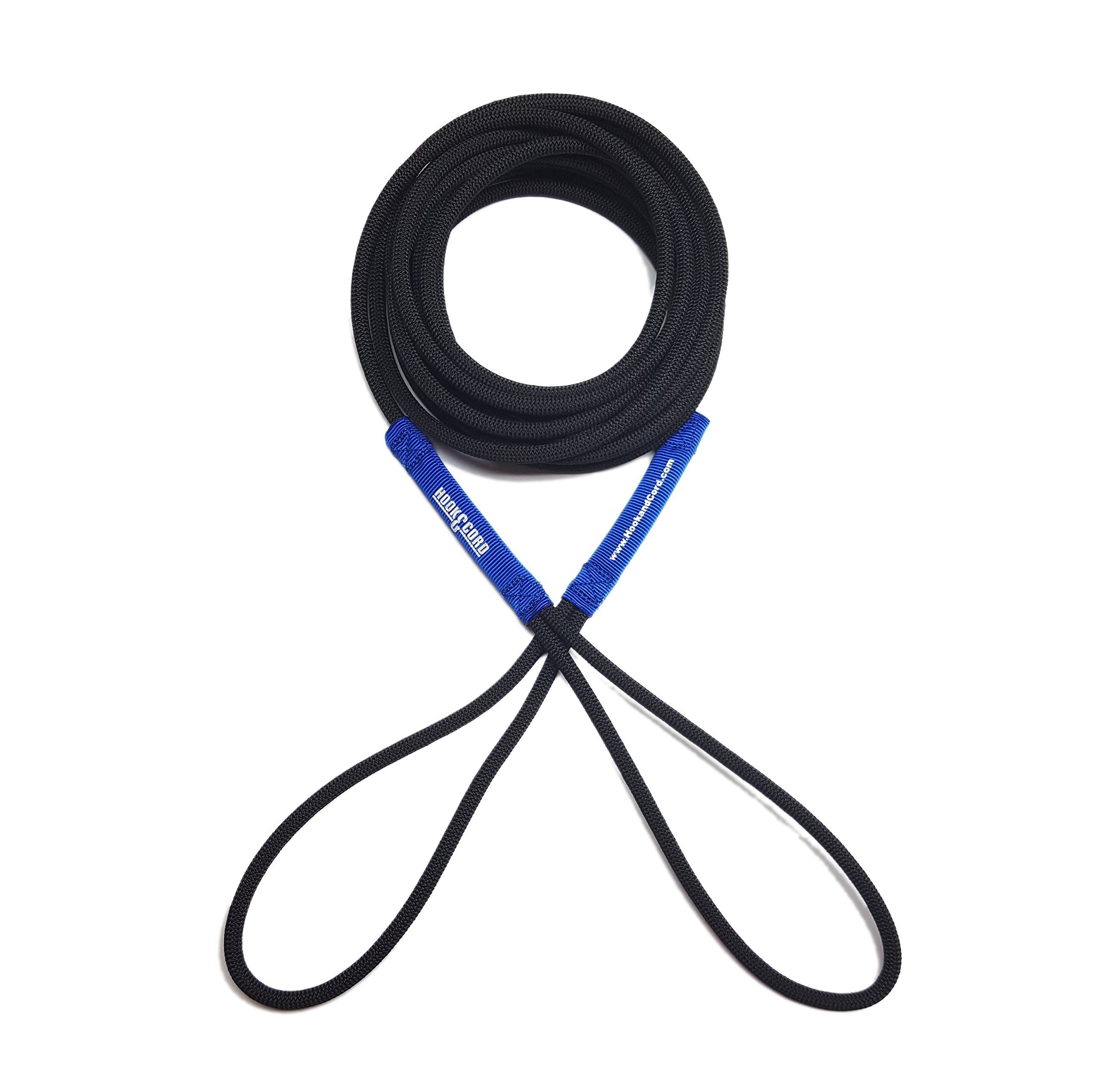 Boat Line Rope Bungee Cord 15' Line, Stretches to 30', Heavy Duty Boat Line, Used for Launching/Retrieving Boats (Blue, 15 feet)