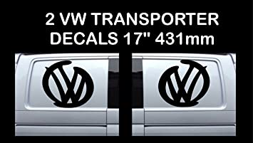"Volkswagen VW Extra Large 17/"" logo Decal Stickers X2 Transporter T5 T4 Campervan"