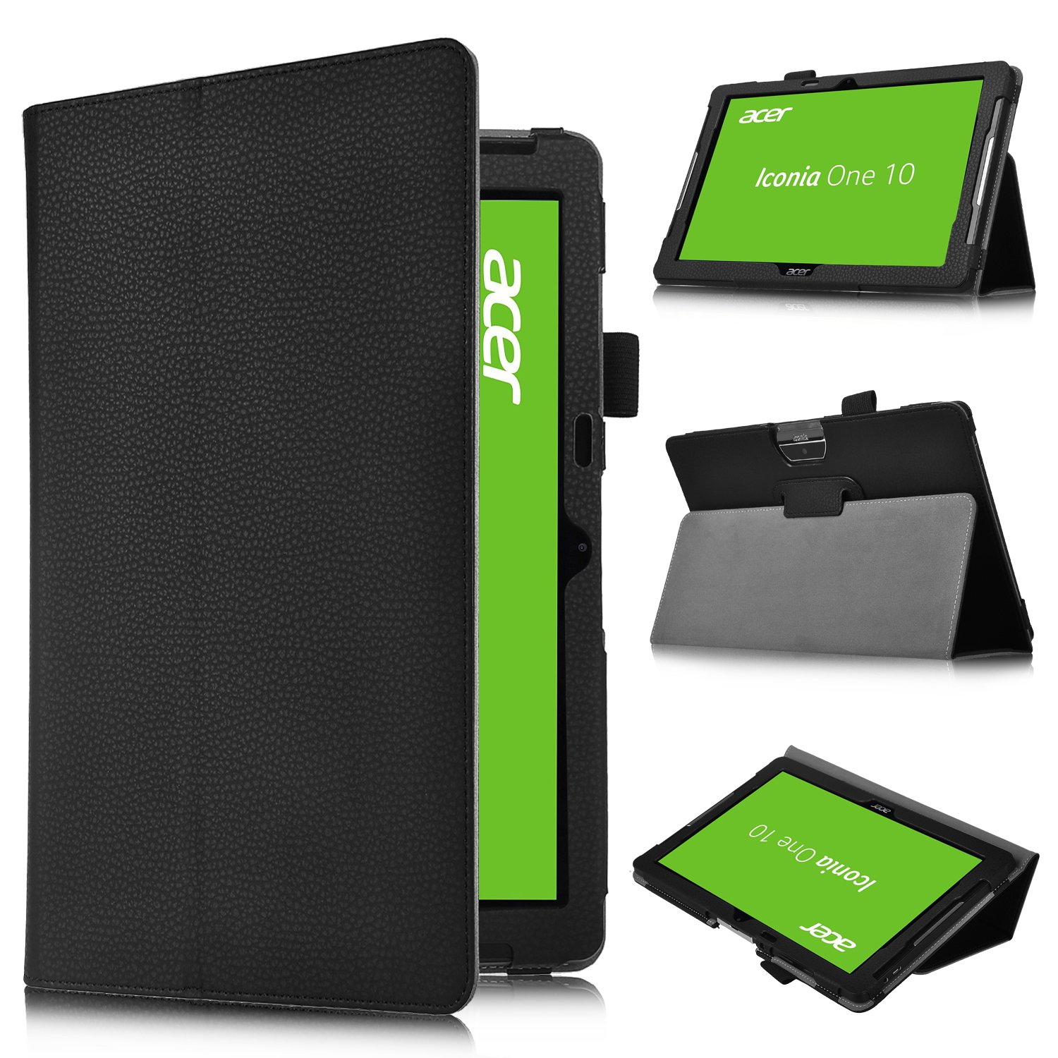 acer iconia one 10 b3 a30 case ivso slim book stand cover case