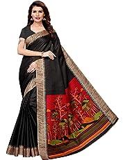 CRAFTSTRIBE Indian Khadi Silk Party Wear Traditional Bollywood Printed Dress Saree Wedding Wear Sari for Women