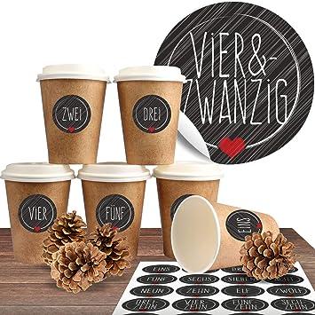 Amazonde Adventskalender Zum Befüllen Mit 24 Coffee To Go Bechern