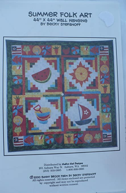 Amazon Summer Folk Art 44 X 44 Wall Hanging Quilt Pattern