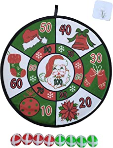 Christmas Dart Board, Party Play,Outdoor, Indoor Games, Christmas Decor for Safe Dart Game,Sticky Balls