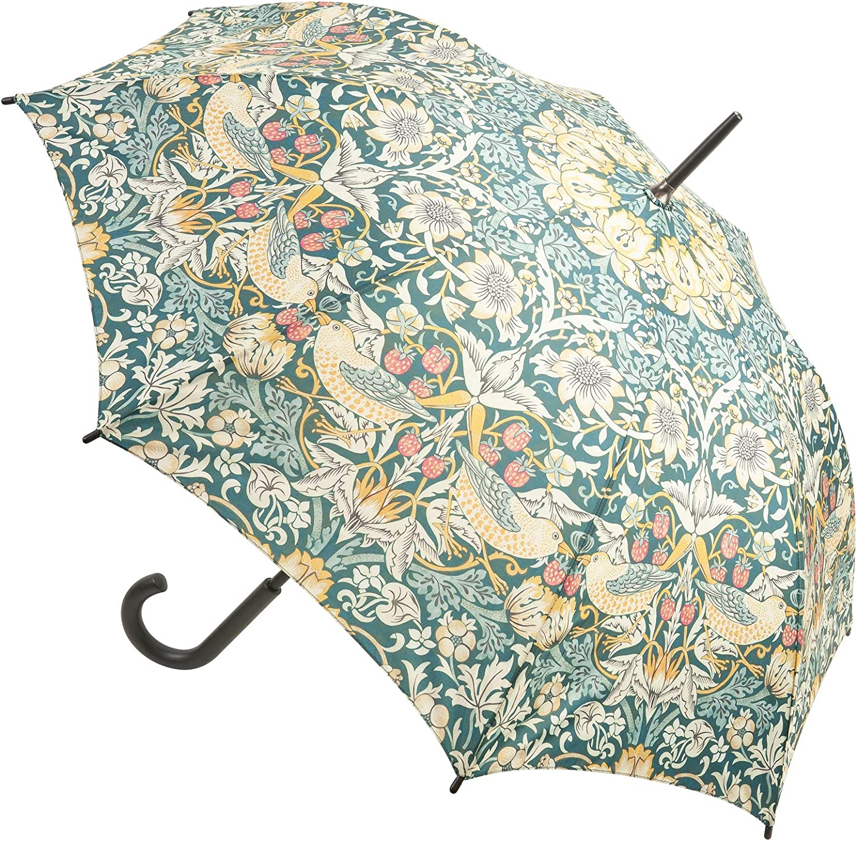Morris /& Co Kensington Walking Length Umbrella by Fulton Strawberry Thief