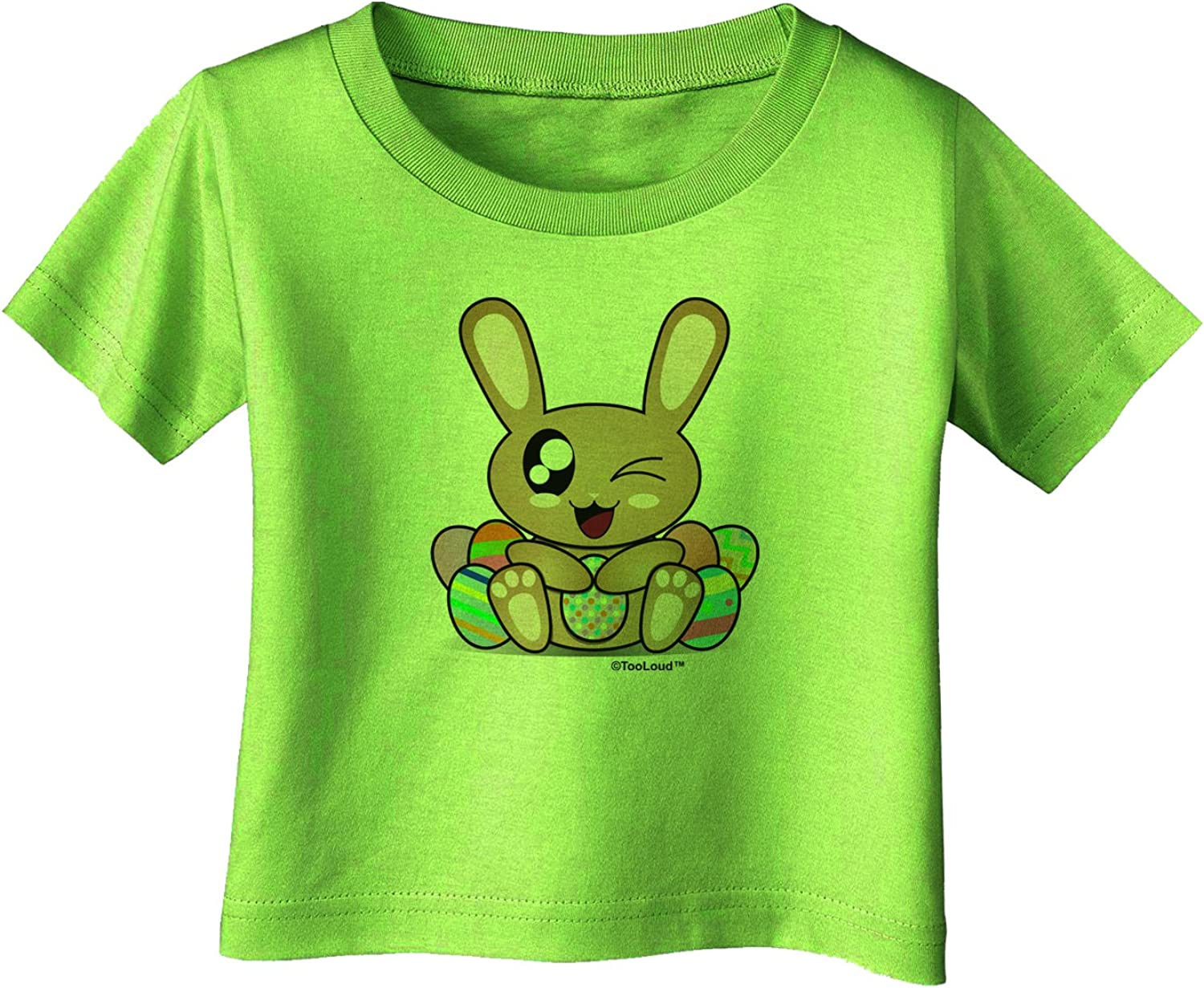 TooLoud Cute Bunny with Eggs Infant T-Shirt