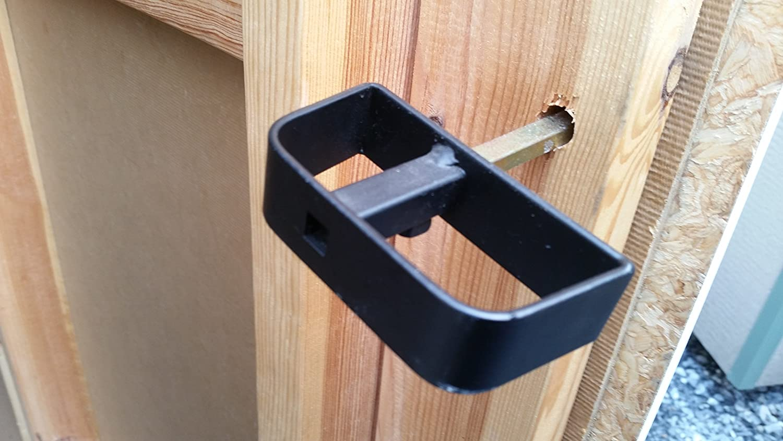4-1//2 Stem Barn Door Lock Allen Wrench Shed Door T-Handle Lock Kit Includes 2 Keys Shed Lock Square Bit Black 2 Screws Playhouse Lock /& Chicken Coop Lock