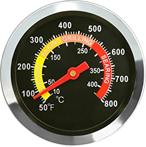DOZYANT BBQ Barbecue Charcoal Grill Pit Wood Smoker Temperature Gauge Grill Pit Thermometer Fahrenheit for Barbecue Meat Cooking Beef Pork Lamb