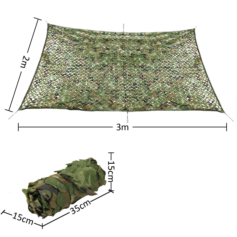 Camping... Safari Shooting estor pamase 210d malla de camuflaje para camuflaje verde de caza