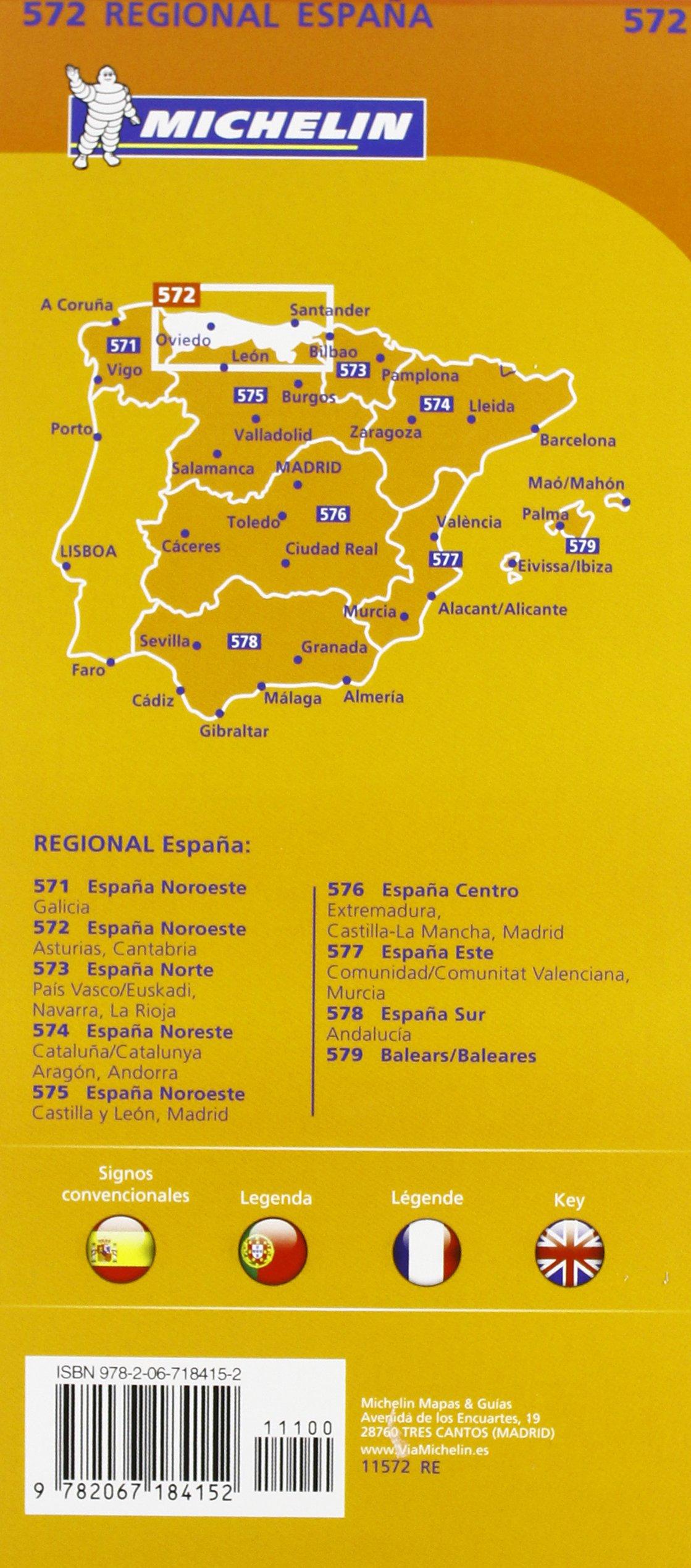 Mapa Regional Asturias, Cantabria (Carte regionali): Amazon.es: Vv.Aa, Vv.Aa: Libros