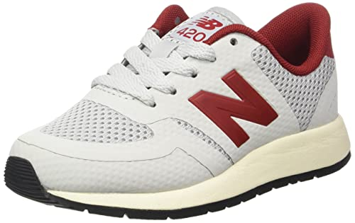 watch 6ffe4 433c4 New Balance 420 Kids   Light Grey Red (KFL420DG) (5-Youth