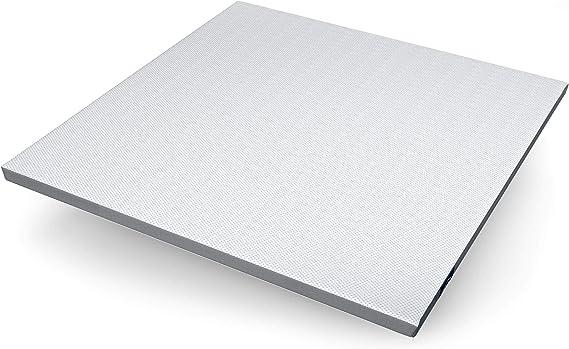 Genius Eazzzy Topper 200 x 200 cm, ortopédico, protector de colchón para colchón y cama con somier, transpirable, para alérgicos